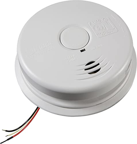 Kidde 21026514 Worry-Free Hardwire Interconnect Ionization Sensor Smoke Alarm, white