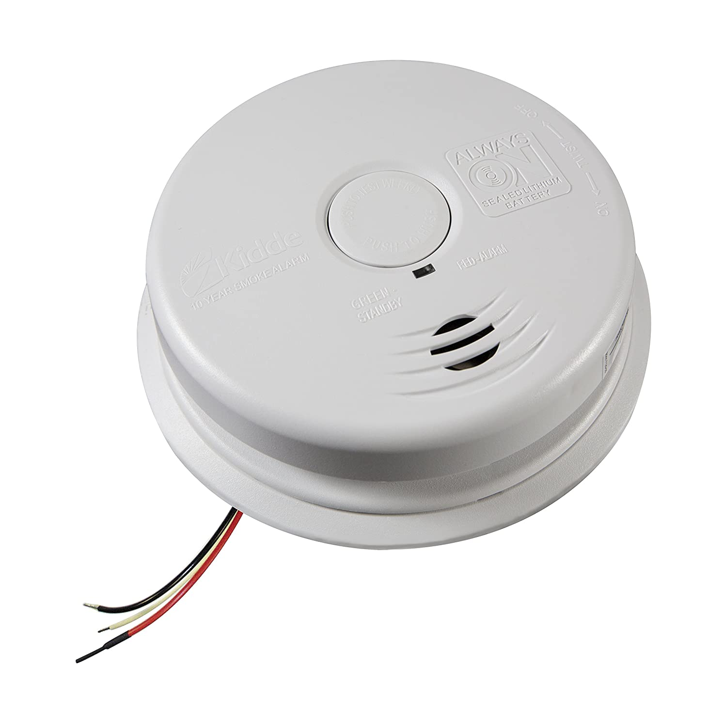 8159mAUhGkL._SL1500_ kidde i12010s hardwired smoke alarm amazon com  at mifinder.co