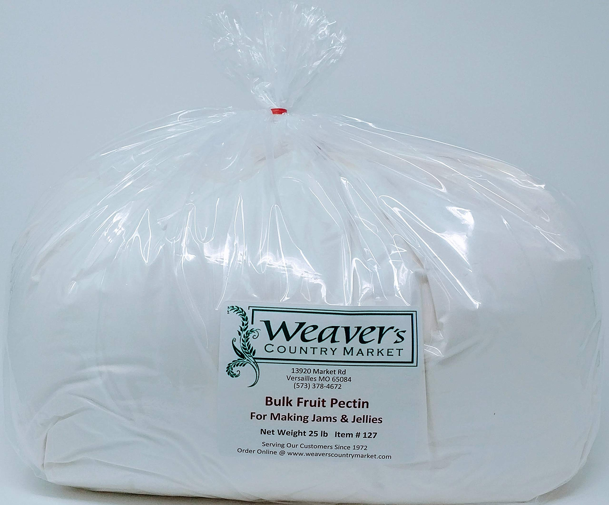 Weaver's Country Market Bulk Fruit Pectin Mix for Making Jams & Jellies (25 Pound Plastic Bag) by Weaver's Country Market (Image #1)