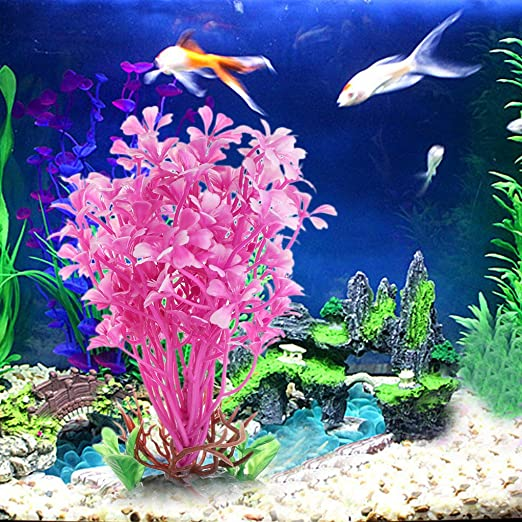 Tandou - Plantas acuáticas de Flores de mar Rosas Artificiales para Acuario: Amazon.es: Productos para mascotas