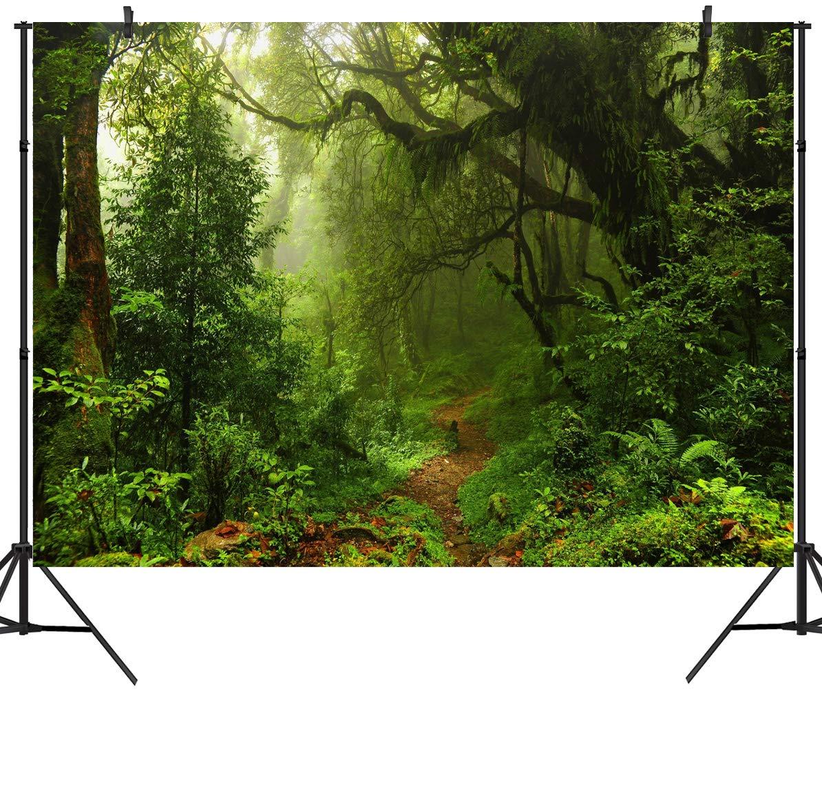 Duluda 10X8FT Seamless Jungle Forest Vinyl Photography Backdrop Customized Photo Background Studio Prop TG04E