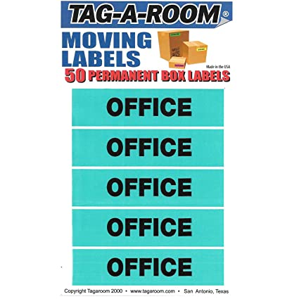Amazon.com : Tag-A-Room Color Coded Moving Box Labels (Office ...