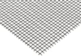 "Steel Woven Mesh Sheet, Zinc Galvanized Finish, 12"" Width, 24"" Length, 0.035"" Wire Diameter, 68% Open Area"