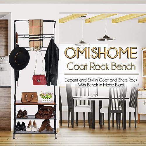 Premium Model Coat Rack Bench – Easy to Assemble Coat and Shoe Rack with Impressive Strength – Elegant and Stylish Design Coat Rack With Bench – Shoe And Coat Rack – Coat And Shoe Bench With Storage