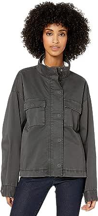 Goodthreads Amazon Brand Women's Cropped Oversized Utility Jacket, Washed