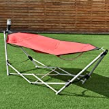 Giantex Portable Hammock with Stand, Folding Lounge Camping Bed with Carry Bag for Camping Outdoor Patio Yard Beach, 94…