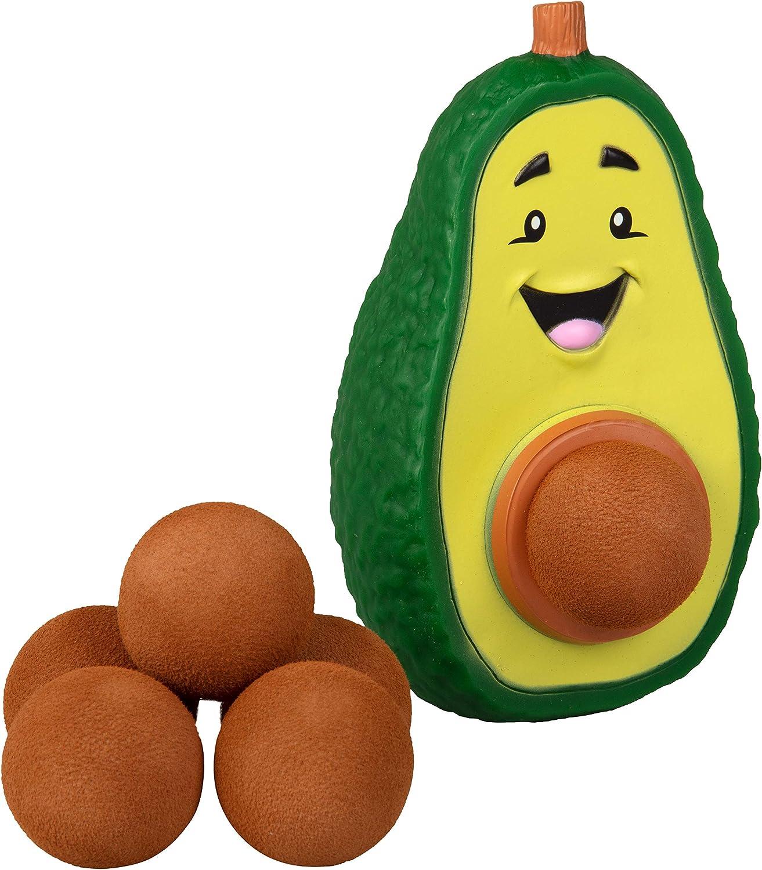 Hog Wild Avocado Popper Toy - Shoot Foam Balls Up to 20 Feet - 6 Balls Included - Age 4+