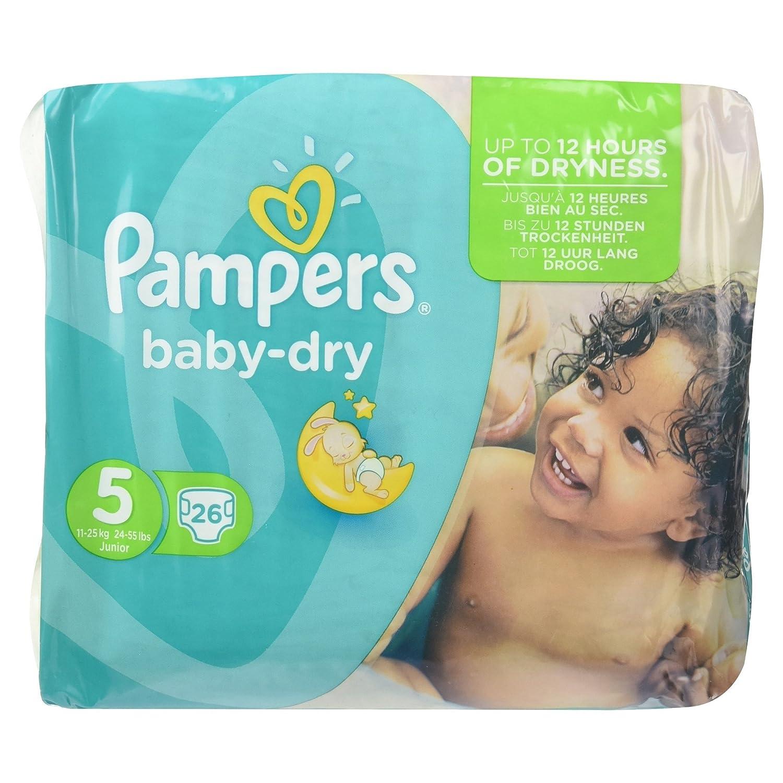 Junior 26 Windeln Pampers Baby-Dry Gr/ö/ße/5