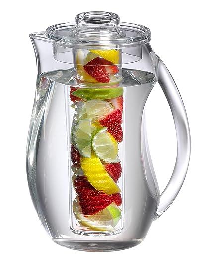 212cc2ac56 Amazon.com: Prodyne FI-3 Fruit Infusion Flavor Pitcher, 2.9 qt Clear, 93  oz,: Home & Kitchen