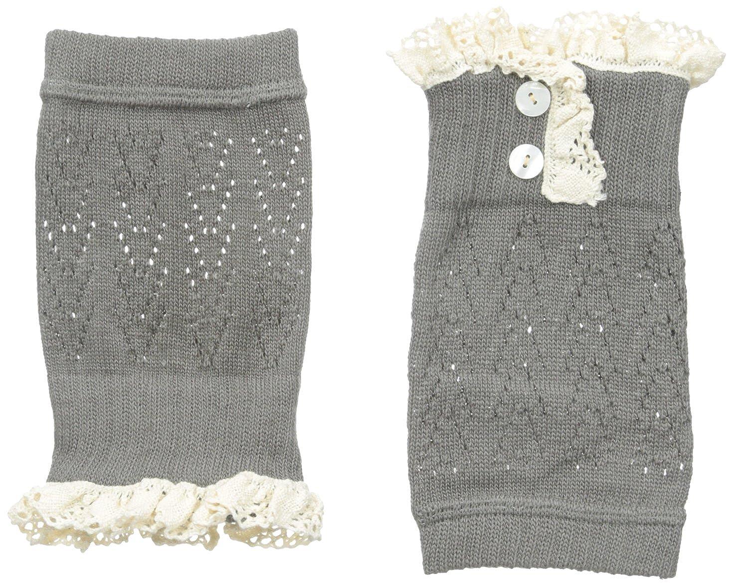 La De Da Womens Ladeda Lace Button Boot Cuff Topper