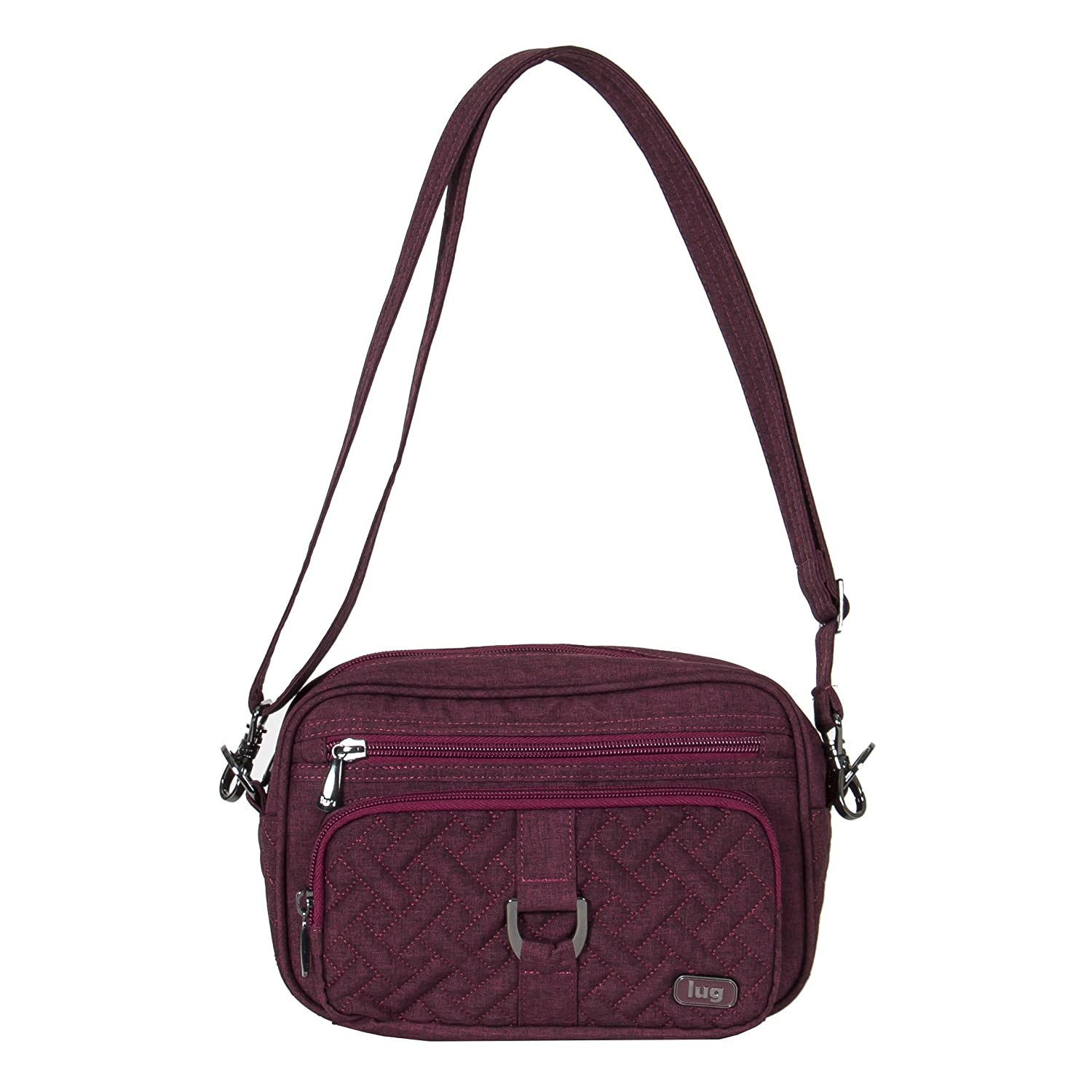 0de8acaba Amazon.com: Lug Women's Crossbody Cross Body Bag HEATHER CRANBER One Size