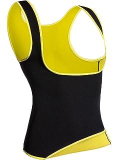 Q/&M Damen Abnehmen Vest Waist Thermo Neopren Sweat Sauna Body Shaper Abnehmen Sauna