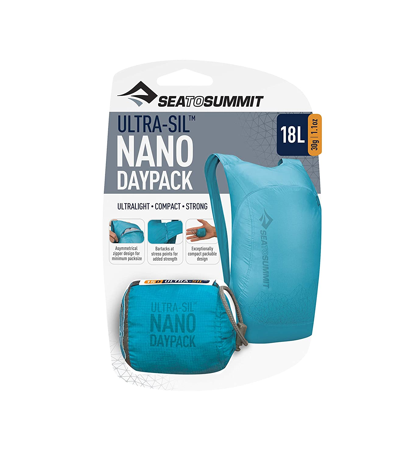 12ef5138c Amazon.com: Sea to Summit Ultra-SIL Nano Day Pack, Blue: Sea to Summit:  Sports & Outdoors