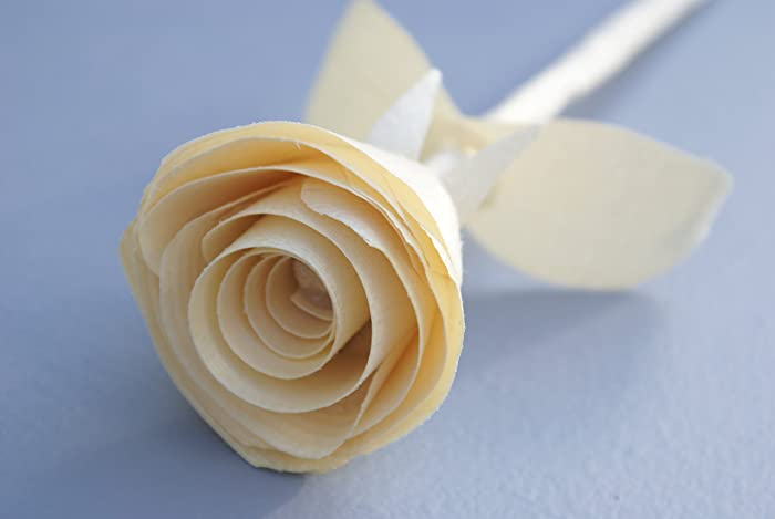 Anniversary Gift Wooden Rose For 5 Year Handmade Traditional Wood Birthday