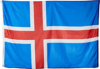 product image for Annin Flagmakers Model 193574 Iceland Flag Nylon SolarGuard NYL-Glo, 4x6 ft, 100% Made in USA to Official United Nations Design Specifications