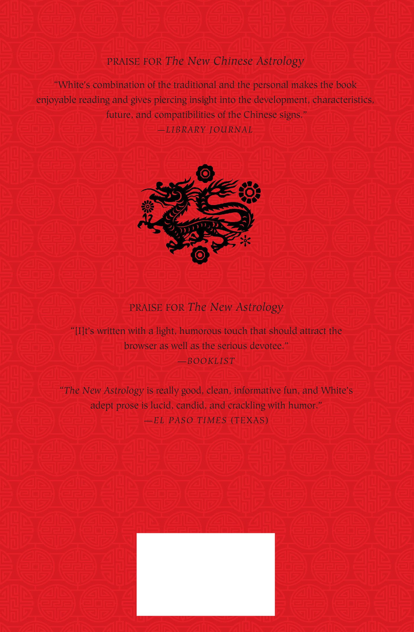 The New Chinese Astrology Suzanne White 9780312586447 Books