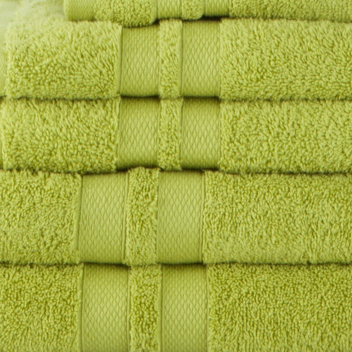 Celery Absorbent /& Ultra Soft 6 Piece Towel Set with Unique Honeycomb Double Border Superior Premium Cotton