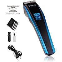 HTC AT 210 Rechargeable Cordless Trimmer for Men  (Black, Blue)
