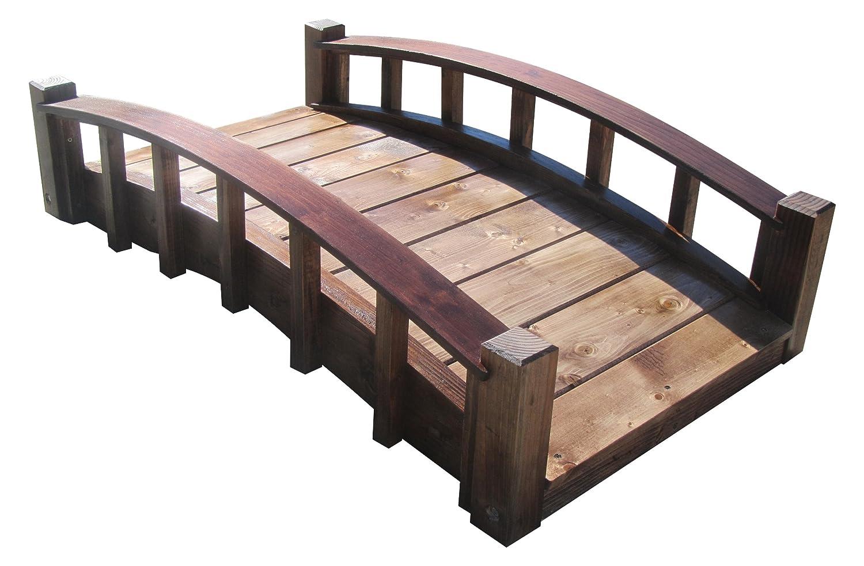 amazoncom samsgazebos moon bridges japanese style arched wood garden bridges 4 feet treated brown garden outdoor