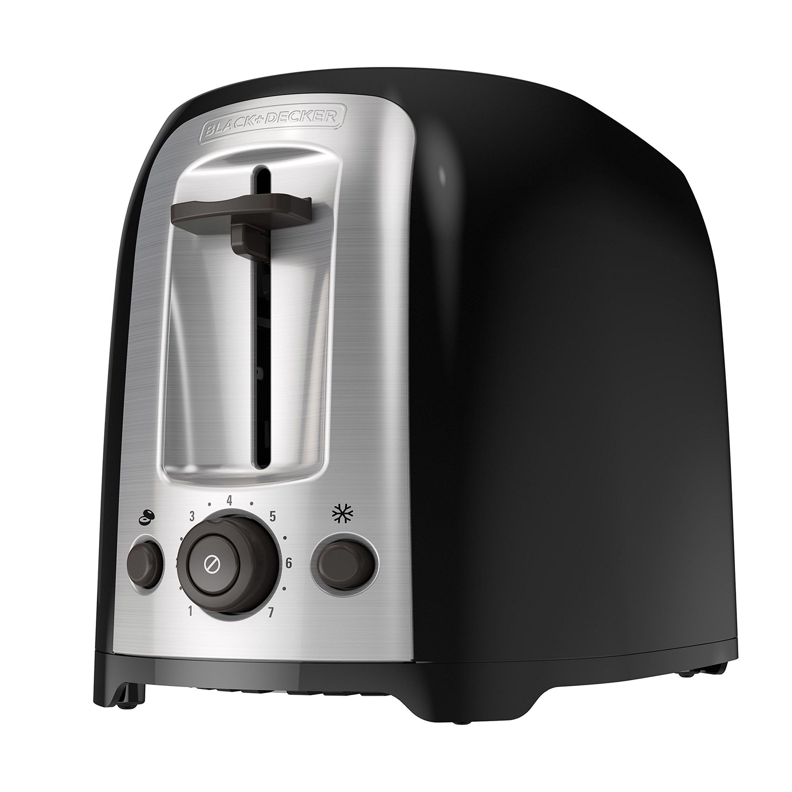BLACK+DECKER 2-Slice Extra Wide Slot Toaster, Classic Oval, Black with Stainless Steel Accents, TR1278B