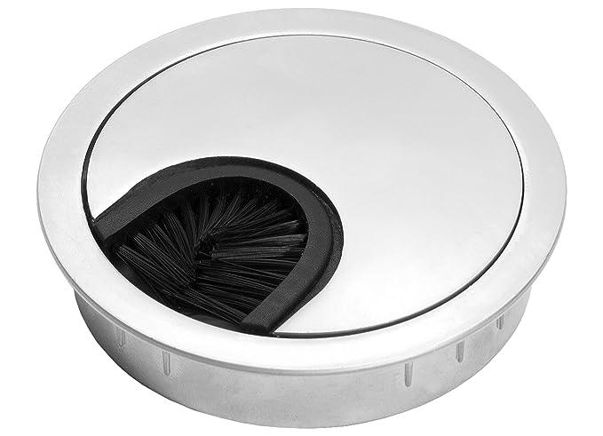 Kabeldurchführung für Tischplatten silber Bohrung-Ø 59 mm