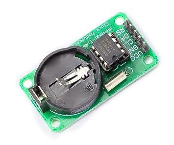 DS1302 Serial Real Time Clock RTC Reloj de tiempo real Clock Módulo con sensor de temperatura para arduino Raspberry Pi: Amazon.es: Informática