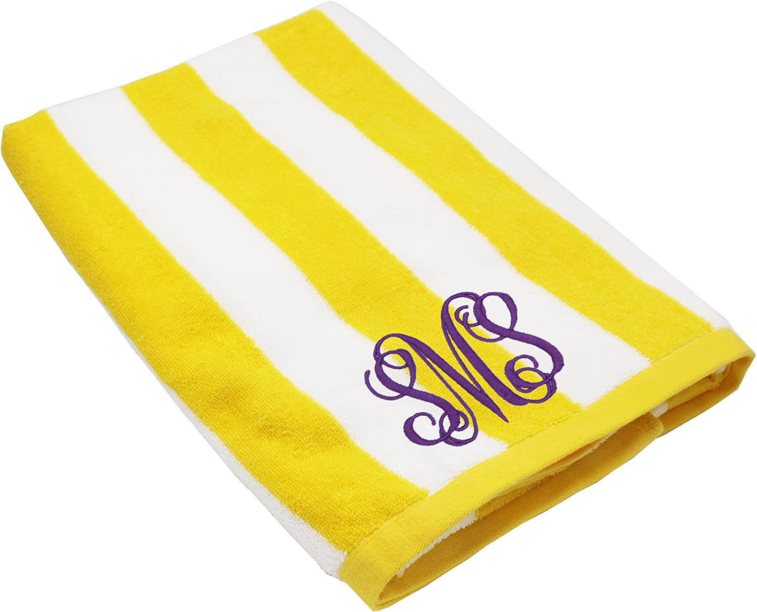 The Wedding Party Store Monogrammed Striped Beach Towel