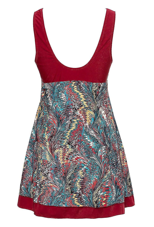 Wantdo Adelgazamiento Modesto Swimdress Diseño de Pavo Real de la Mujer una Pieza Bañador - -: Amazon.es: Ropa y accesorios