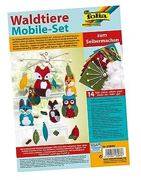 Folia - Bosque animales móvil bastelset, 14 partes con las instrucciones, inquietud: Amazon.es: Bricolaje y herramientas