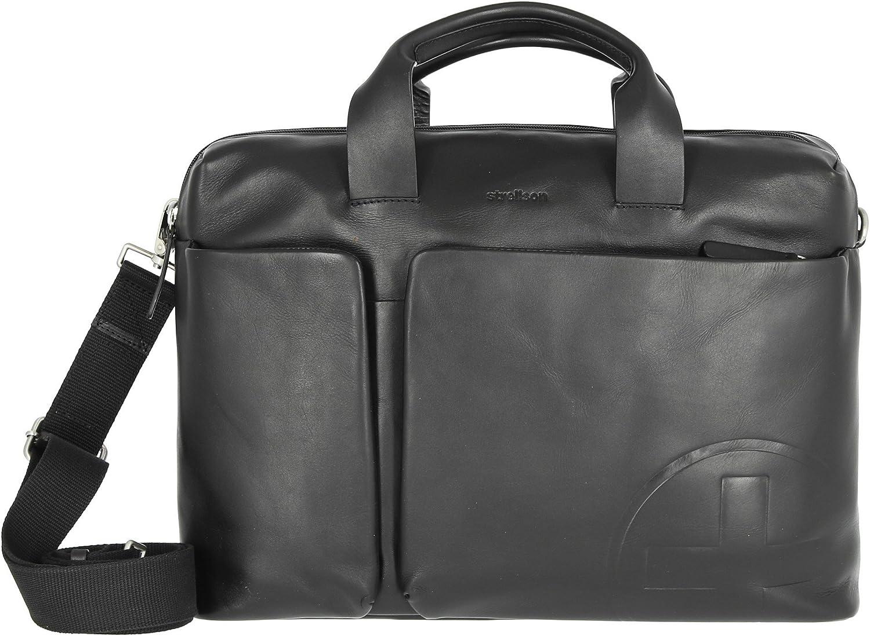 Strellson Jones Mhz Men S Leather Briefcase Schuhe Handtaschen