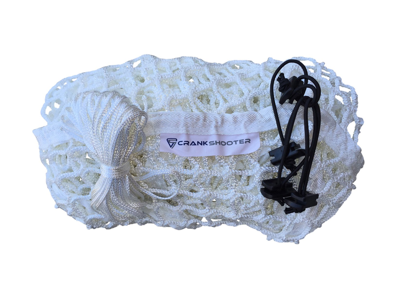CrankShooter 6mm Lacrosse Net -New 1000d hi tension polyester 6mm White Replacement Net for 6'x6'x7' Goal