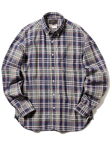 Madras Buttondown Shirt 11-11-5199-139: Navy