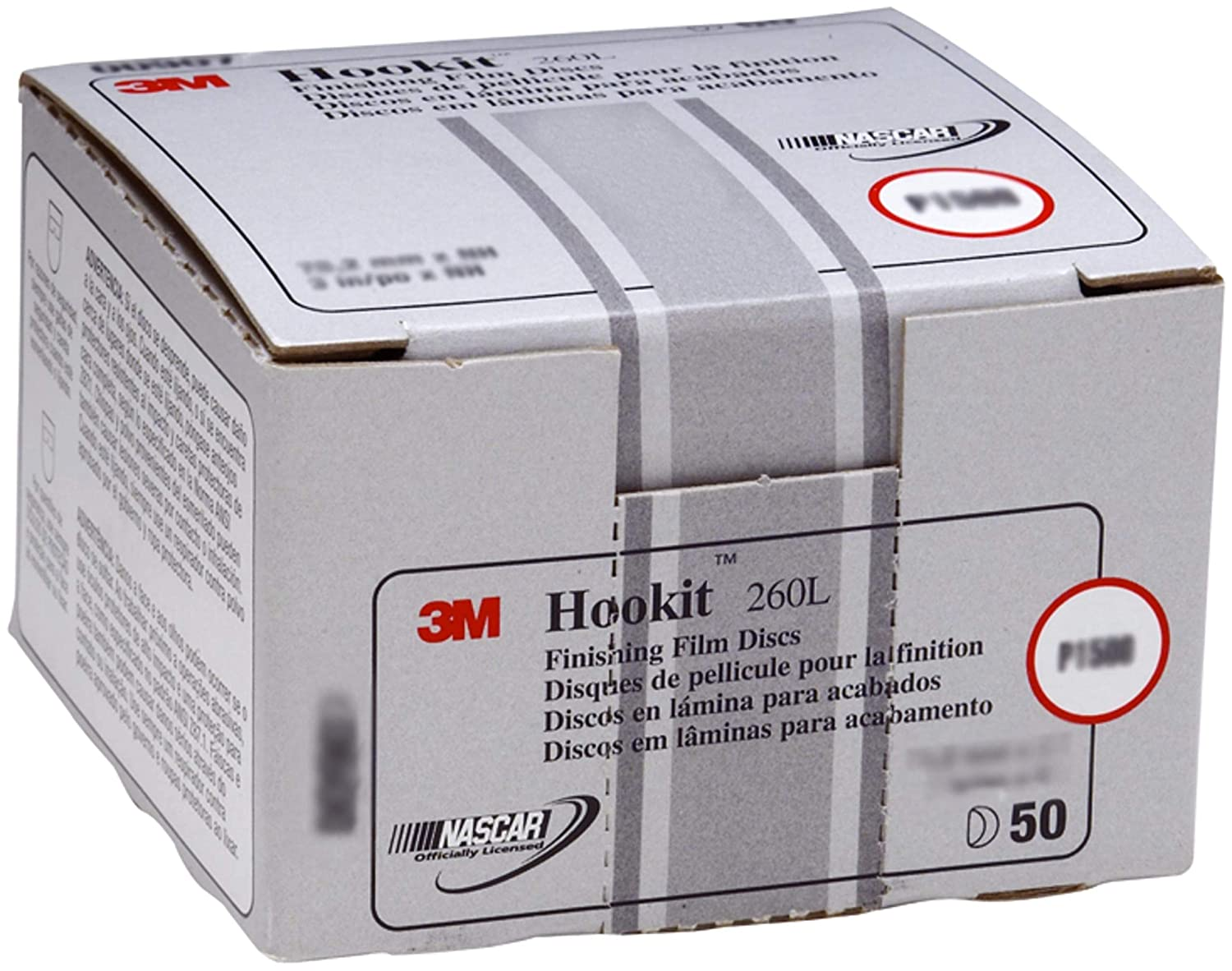 3M Hookit Finishing Film Abrasive Disc 260L, 00910, 3 in, P800, 50 discs per carton