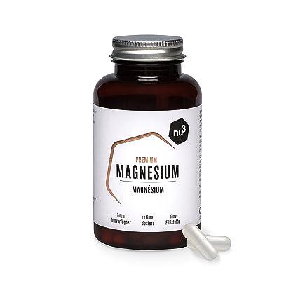 nu3 Magnesio PREMIUM | 120 cápsulas | 378mg de magnesium | Complemento de citrato de magnesio