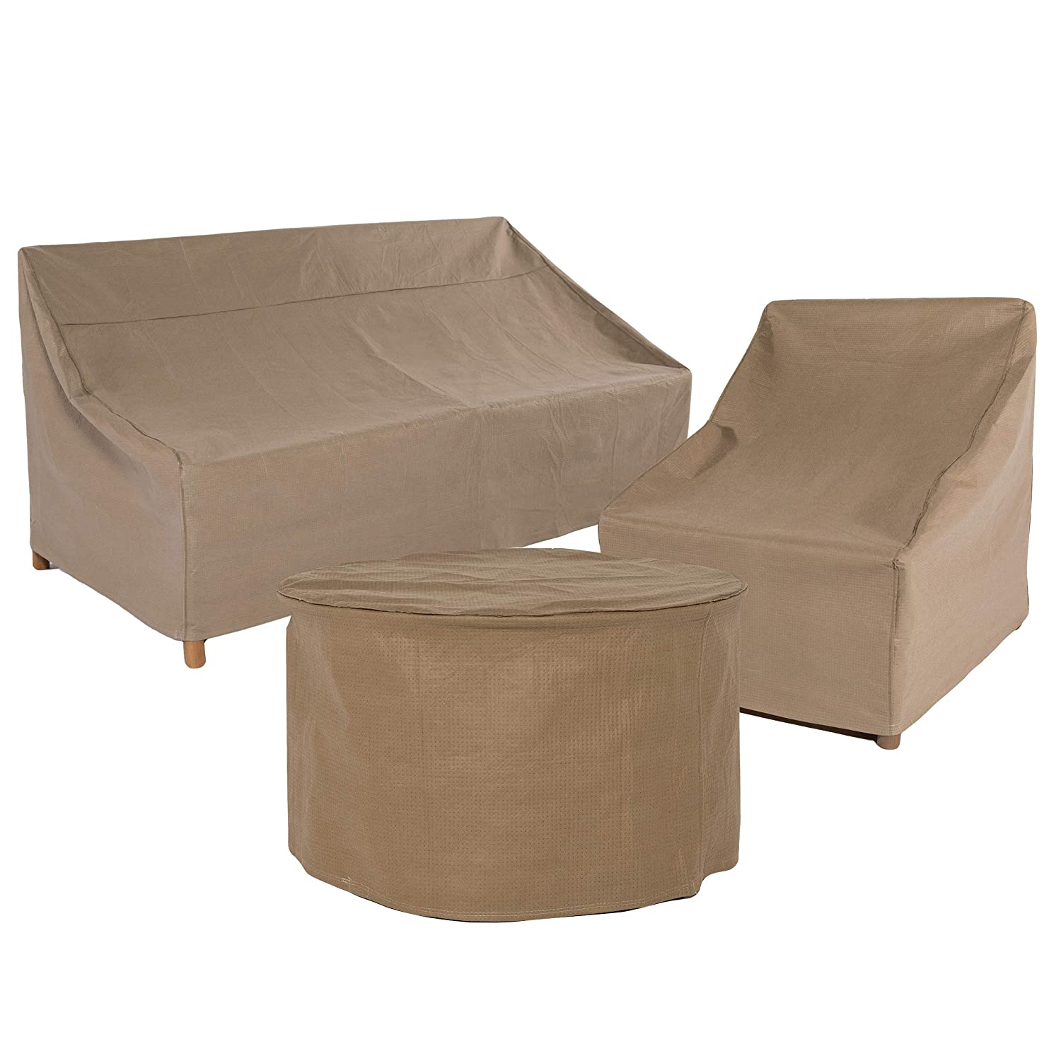 Duck Covers Essential Square Patio Table with Chairs Cover 76-Inch