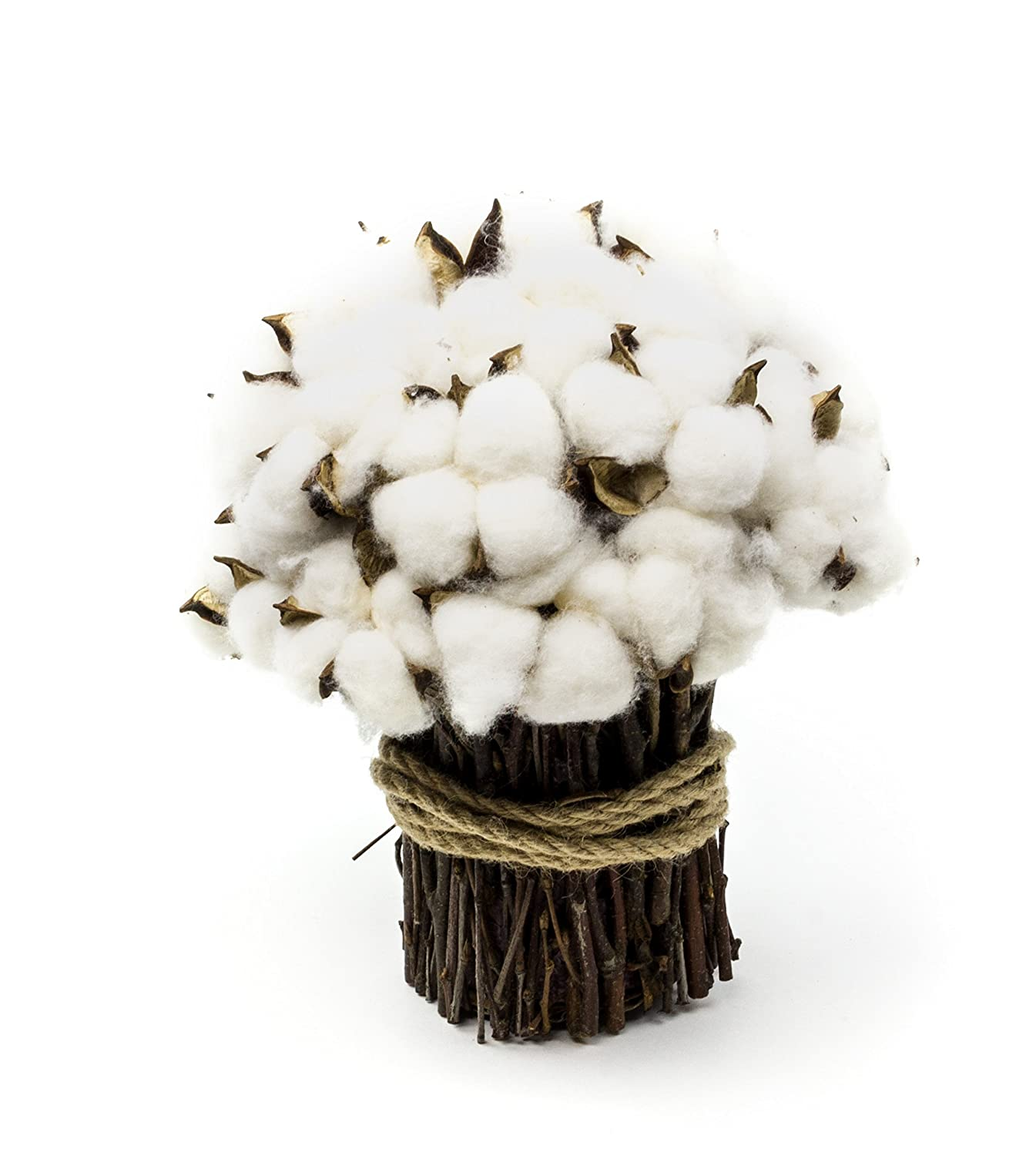 Amazon.com: Rustic Cotton Boll Bouquet Wedding Centerpiece: Home ...
