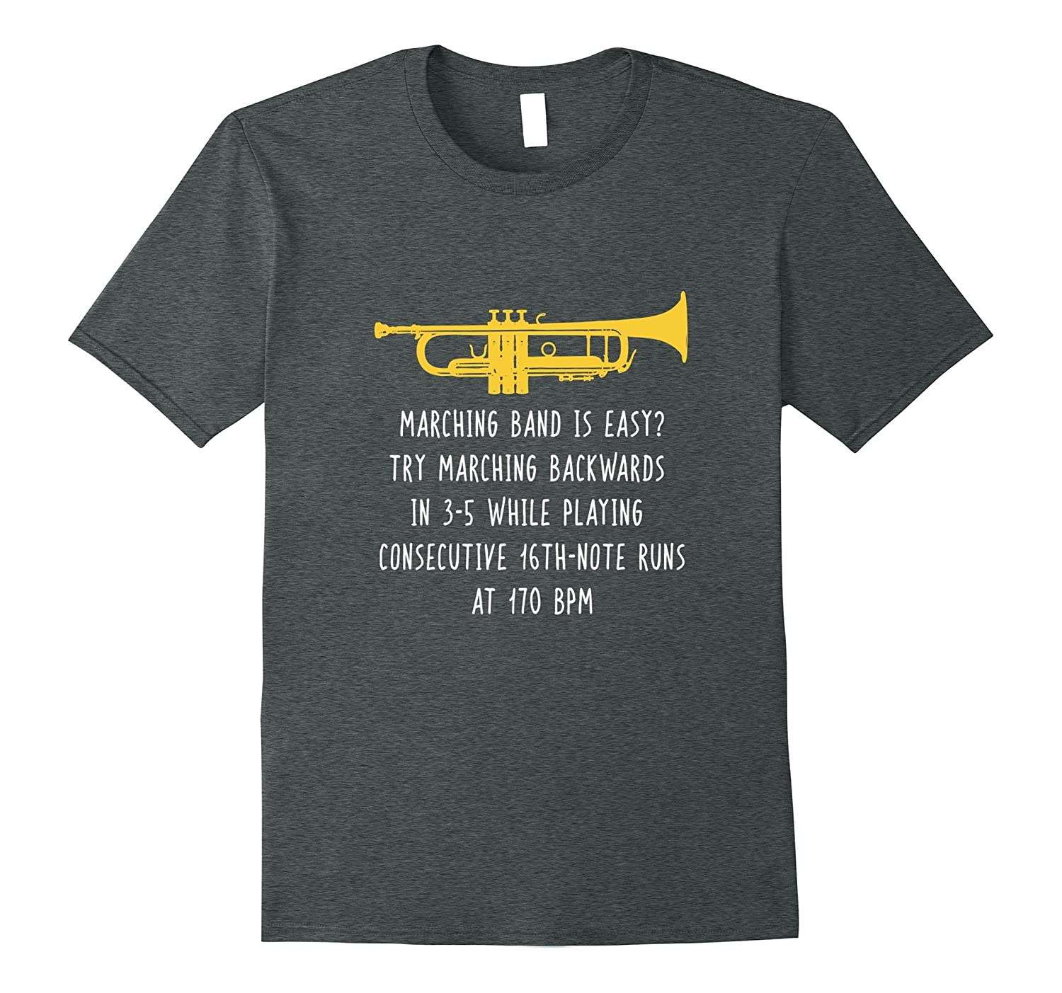 Funny Trumpet Shirt, Marching Band is Easy Player Gift-Art