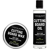 Caron & Doucet - Cutting Board & Butcher Block Conditioning Oil & Wood Finishing Wax Bundle | 100% Plant-Based & Vegan…