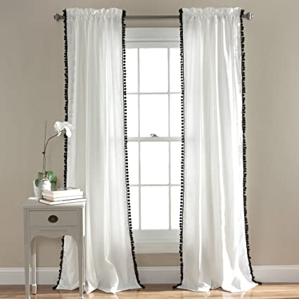 Lush Decor Pom Window Curtain Panel 84 X 50quot