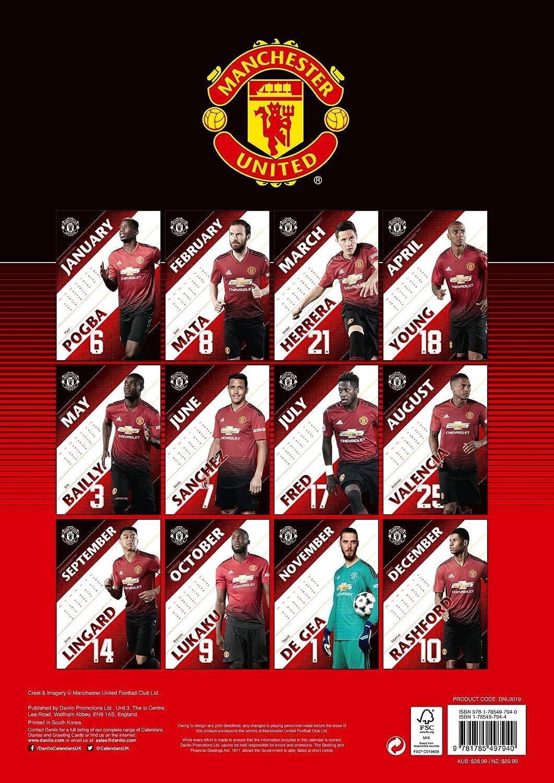 Manchester United FC Official 2018 Calendar A3 Poster Format Calendar New