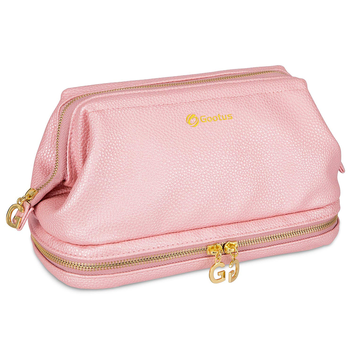 3f420da585a3 Gootus Leather Toiletry Bag for Women - Cosmetic Bag Skincare Makeup ...