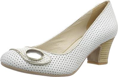 Virus 25377 - zapatos de tacón cerrados de cuero mujer, marfil - Elfenbein (Garda Rock/Charme 8658), 36: Amazon.es: Zapatos y complementos