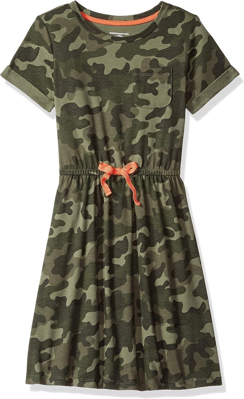 Essentials Girls Short-Sleeve Elastic Waist T-Shirt Dress Bambina