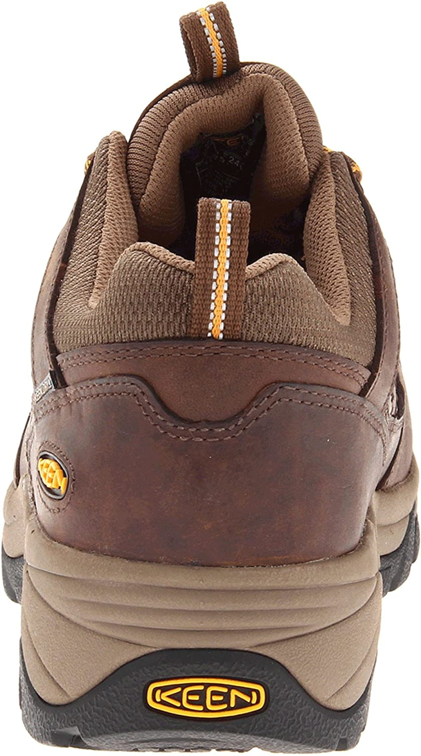 d2b4afd74a Amazon.com: Keen Utility Men's Lexington Dark Earth/Apricot Sneaker 7.5 D  (M): Shoes