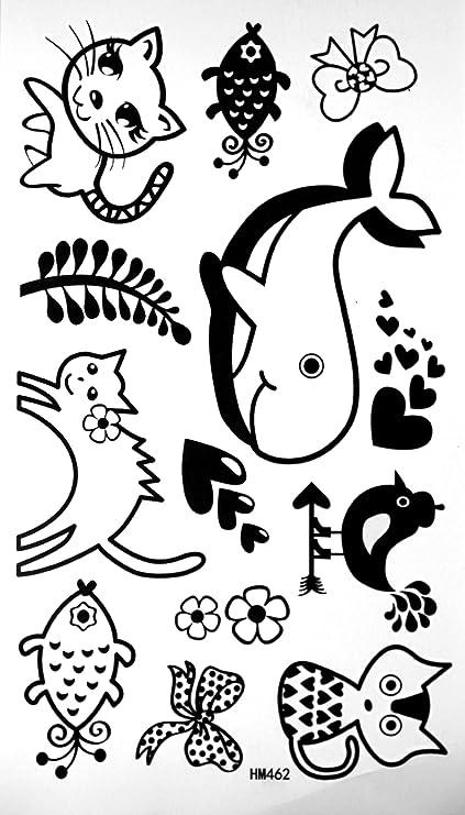 Los niños de no tóxico Tatuajes Tatuaje Pegatinas Impermeable no ...