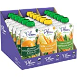 Plum Organics Hearty Veggie, Organic Baby Food, Variety Pack, 3.5 Ounce Pouch (Pack of 18)