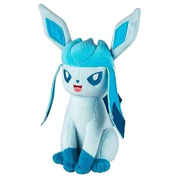 Tomy Peluche Pokémon de Glaceon (Aprox. 20 cm), Peluche de Alta Calidad