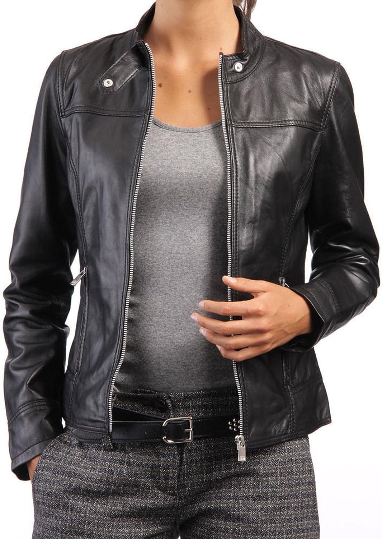 Kingdom Leather New Women Motorcycle Lambskin Leather Jacket Coat Size XS S M L XL XW548