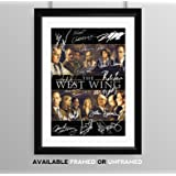 The West Wing Cast Signed Autograph Signature Autographed A4 Poster Photo Print Photograph Artwork Wall Art Picture TV Show Series Season DVD Boxset Memorabilia Gift Rob Lowe Moira Kelly Dule Hill (BLACK FRAMED & MOUNTED)