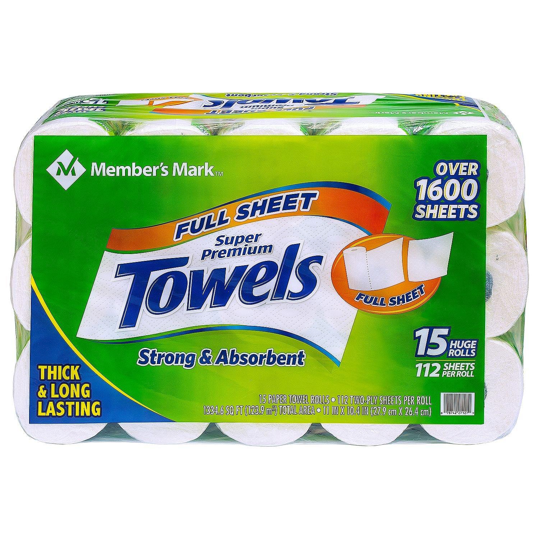 Miembros de la marca Premium toalla de papel, enorme rollos (15 rollos, 112 hojas)?: Amazon.es: Hogar